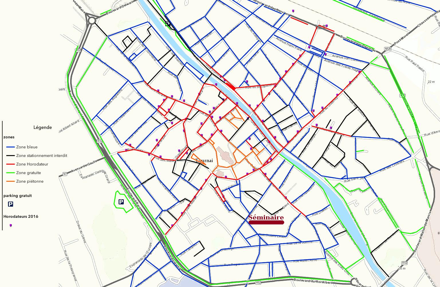 Carte Zone Bleue Tournai.Lieux Tournai Seminaire De Tournai